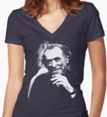 Charles Bukowski Women's Fitted V-Neck T-Shirt