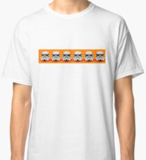 Lego Storm Troopers on orange Classic T-Shirt