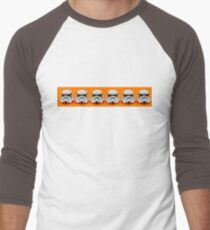 Lego Storm Troopers on orange Men's Baseball ¾ T-Shirt