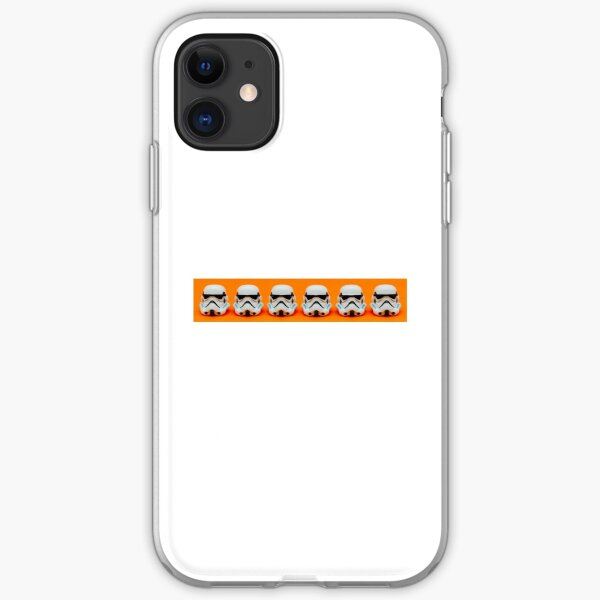 Lego Storm Troopers on orange iPhone Soft Case