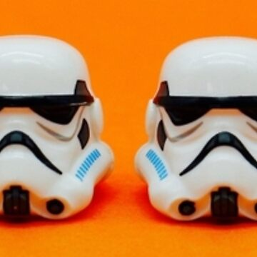 Lego Storm Troopers on orange by EllLang