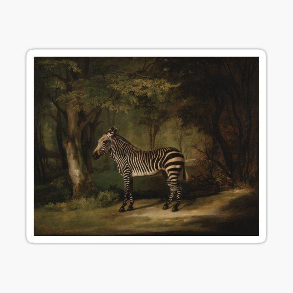 George Stubbs Zebra Sticker