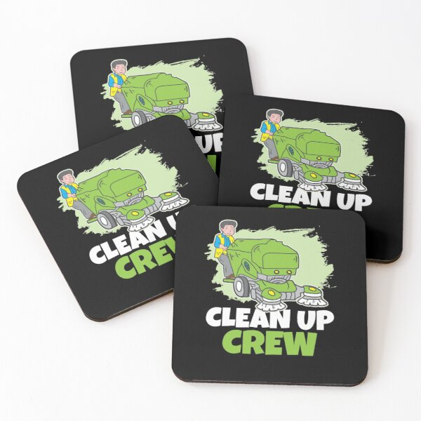 Clean up Crew Coasters (Set of 4)