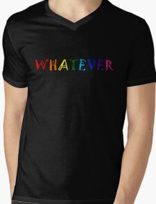 Whatever Funny Cute Rainbow Colors Unisex Mens V-Neck T-Shirt