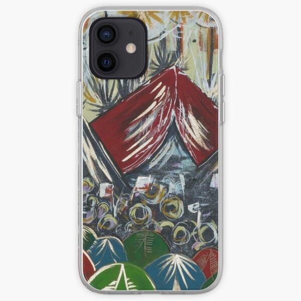 Glastonbury festival camping themed prints iPhone Soft Case