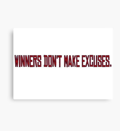 Winners Suits TV Series Inspirational Quote Harvey Specter Red Canvas Print