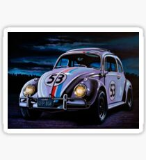 Herbie The Love Bug Painting Sticker