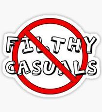 No Filthy Casuals Allowed - Gamer Geek Meme Sticker
