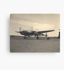 aircraft (p-38 lightning) WWII Canvas Print