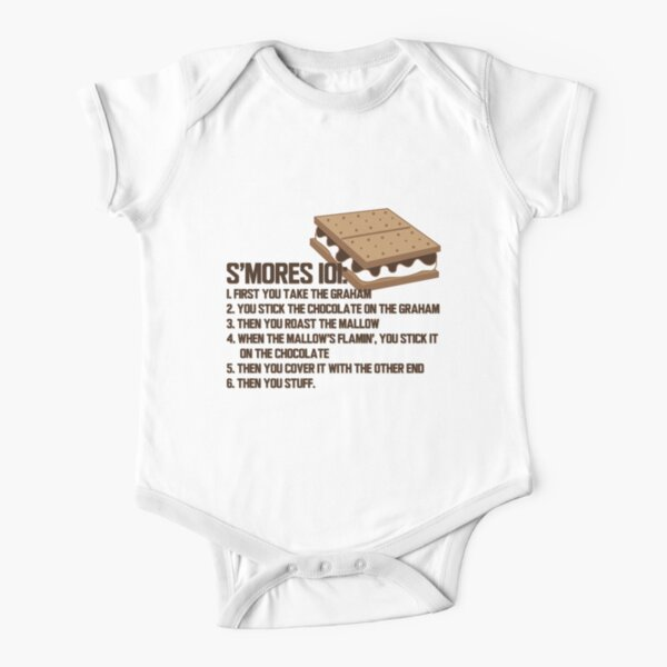 smores 101 Short Sleeve Baby One-Piece