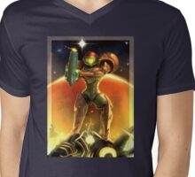 Metroid 30th Anniversary - Samus Aran Mens V-Neck T-Shirt