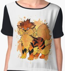 Arcanine - with background Women's Chiffon Top