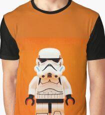 Lego Storm Trooper on Orange Graphic T-Shirt