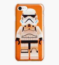 Lego Storm Trooper on Orange iPhone Case/Skin