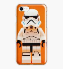 Lego Storm Trooper on Orange iPhone Case/Skin