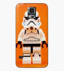 Lego Storm Trooper auf Orange Hülle & Klebefolie für Samsung Galaxy