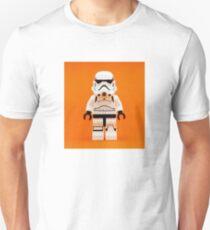 Lego Storm Trooper on Orange Unisex T-Shirt
