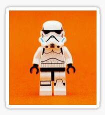 Lego Storm Trooper on Orange Sticker