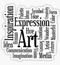 Art and Creativity Artist's Word Cloud Sticker