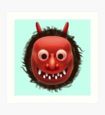 Japanese Ogre Emoji Art Print