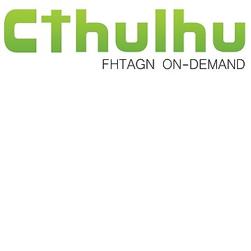 Cthulhu Fhatgn on-Demand by NerdUnemployed