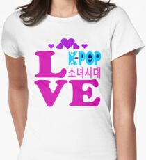 ♥♫Love SNSD-Girls' Generation Fabulous K-Pop Clothes & Phone/iPad/Laptop/MackBook Cases/Skins & Bags & Home Decor & Stationary & Mugs♪♥ Women's Fitted T-Shirt