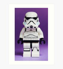 Purple Lego Storm Trooper Art Print