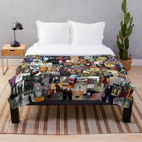 Rock Vinyl Collage Throw Blanket