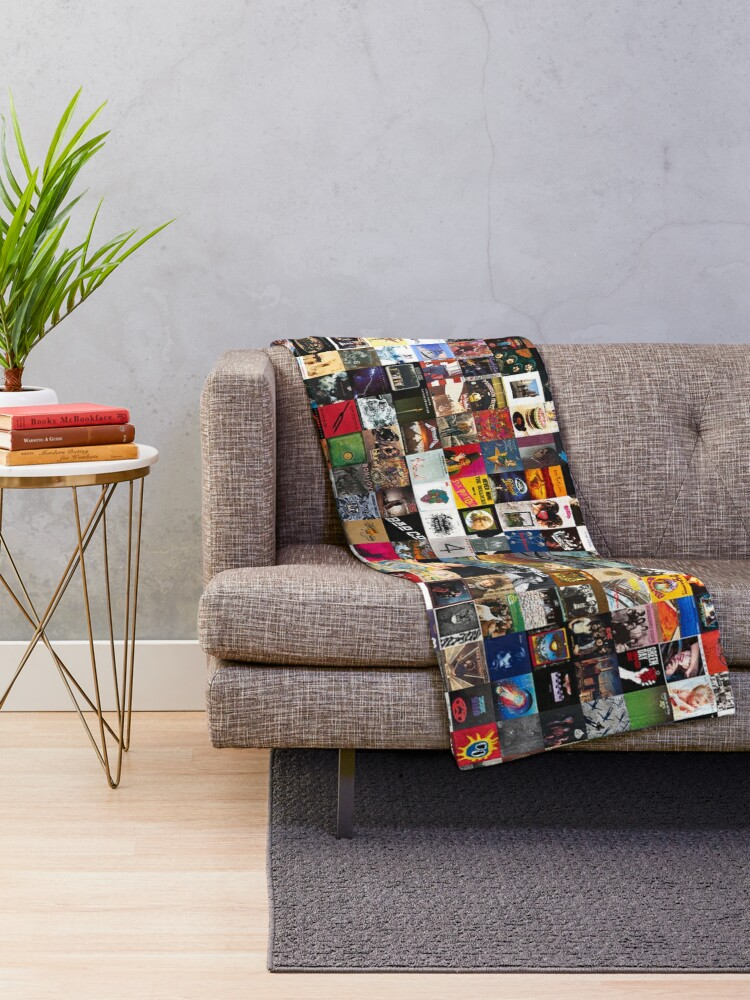 Alternate view of Greatest Rock Albums Collage Throw Blanket
