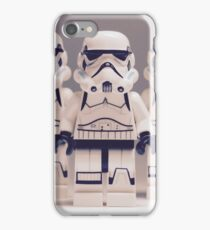 Grey Lego Storm Trooper line up iPhone Case/Skin