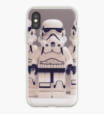 Grey Lego Storm Trooper line up iPhone Case