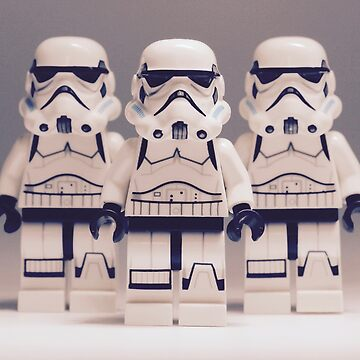 Grey Lego Storm Trooper line up by EllLang