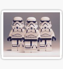 Grey Lego Storm Trooper line up Sticker