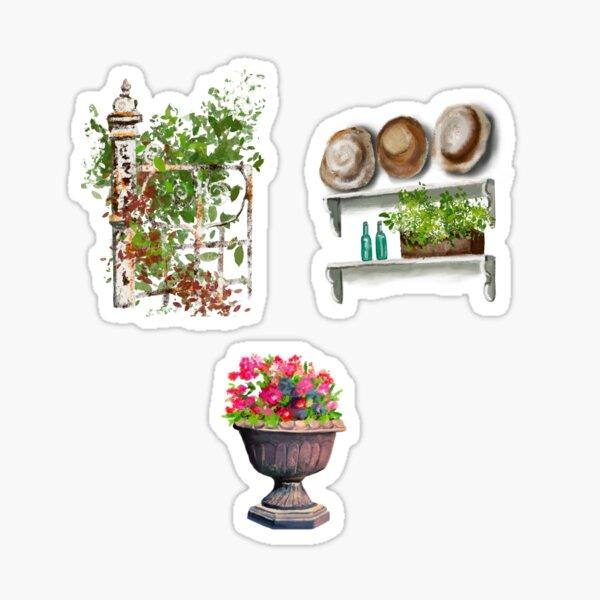 Gate, hats, flowers Sticker
