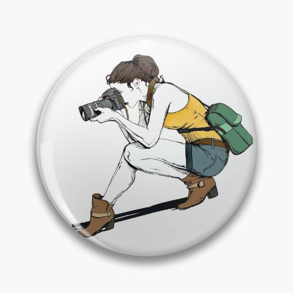 Camera and girl Pin