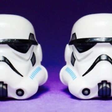 Purple Lego Star Wars Heads by EllLang