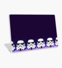 Purple Lego Star Wars Heads Laptop Skin