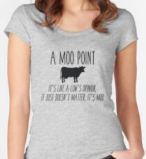 Friends - Moo Point Women's Fitted Scoop T-Shirt