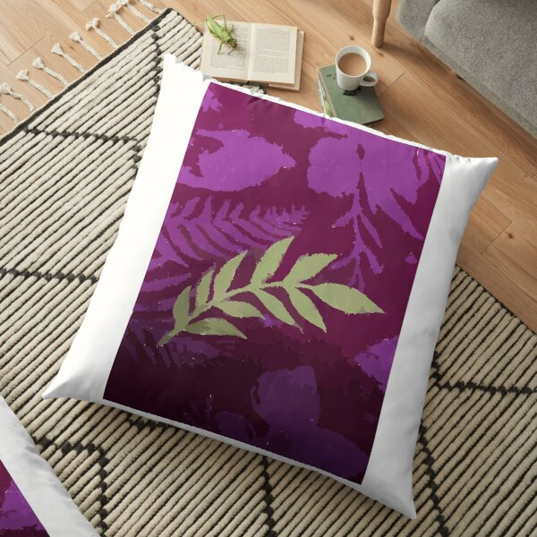 Colourful design fitting for people who loves Floral / Leaf Motif or Batik Indonesian Sarong.  Floor Pillow