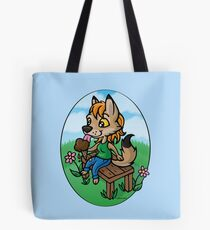 Summertime Treat - Coyote with Ice Cream Tote Bag