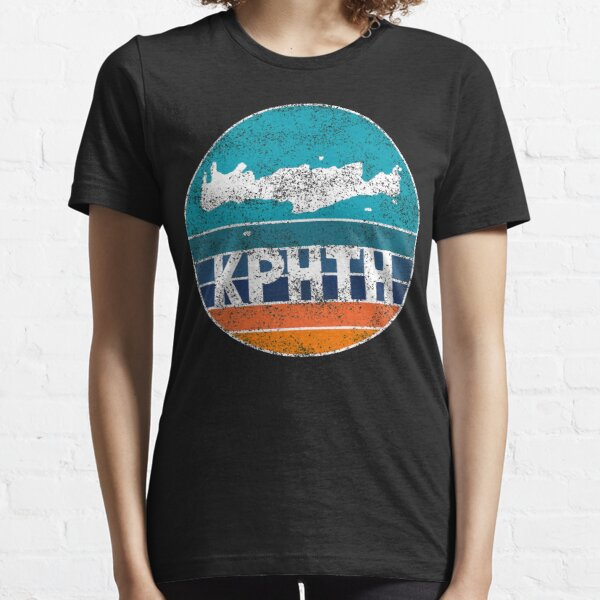 Crete Map on distressed sunset - Greek fonts Essential T-Shirt