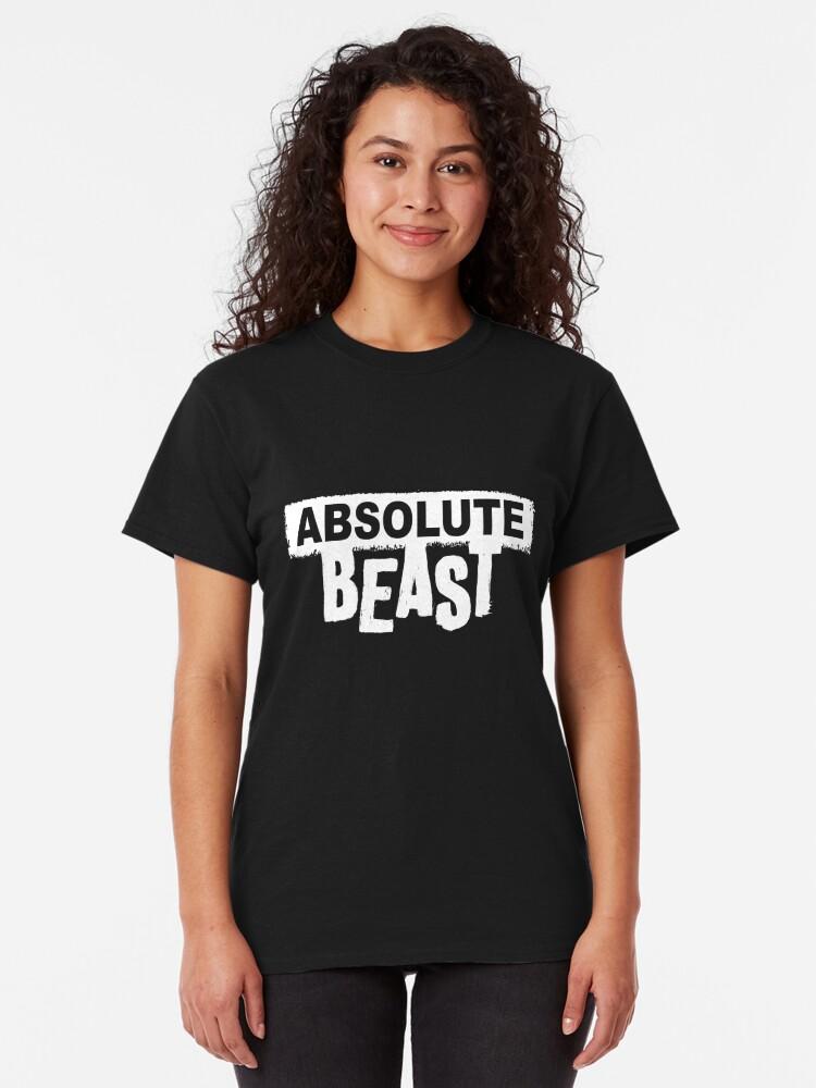 Alternate view of Absolute Beast (light text) Classic T-Shirt