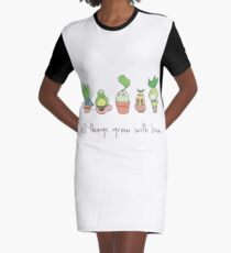 ALL THINGS GROW WITH LOVE Graphic T-Shirt Dress
