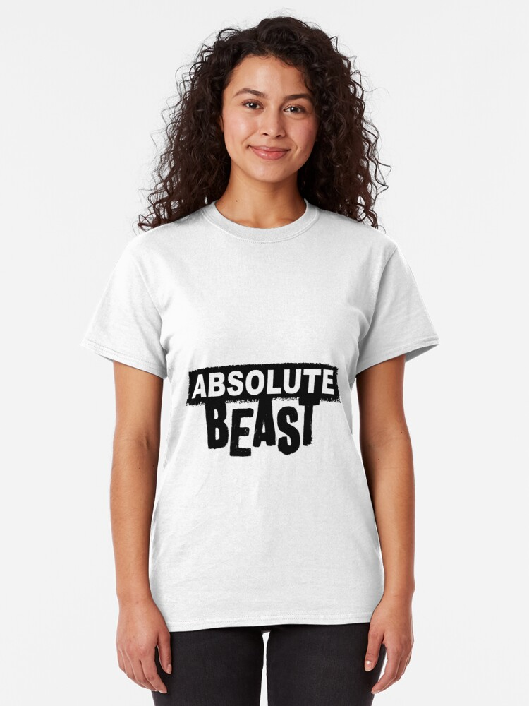 Alternate view of Absolute Beast (dark text) Classic T-Shirt