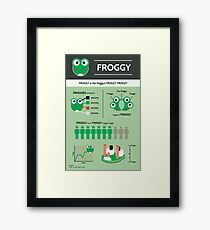 Froggy: an Infographic Framed Print