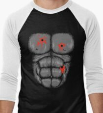 Harambe Halloween Costume - Shot Gorilla Chest Men's Baseball ¾ T-Shirt