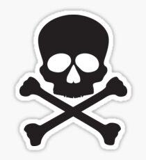 Skull with Crossbones Illustration Sticker