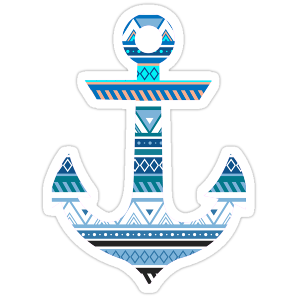 Quot Aztec Anchor Quot Stickers By Soccermerch Redbubble