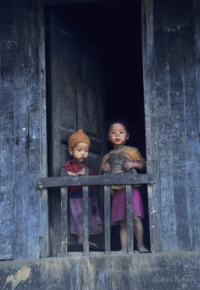 Village-kids in Myanmar by Patrick Belser