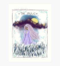 Tarot Card The Moon Goddess Art Print